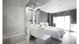 Habitación tipo. Hotel MasMonzón. Brualla-Alcaraz. Arquitectos