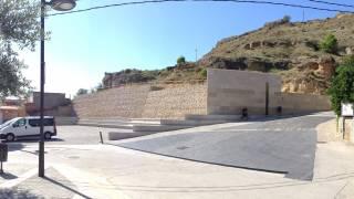 Recuperación medioambiental recepción de visitantes Castillo Monzón. Brualla-Alcaraz. Arquitectos
