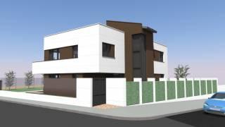 Render vivienda 1. Albalate de Cinca. Brualla-Alcaraz. Arquitectos.