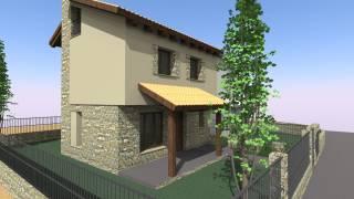 Vivienda unifamiliar pareada.Labuerda. Huesca. Brualla-Alcaraz. Arquitectos.